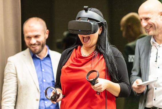 Dank Virtual Reality konnten DELTA Projekte besichtigt werden.