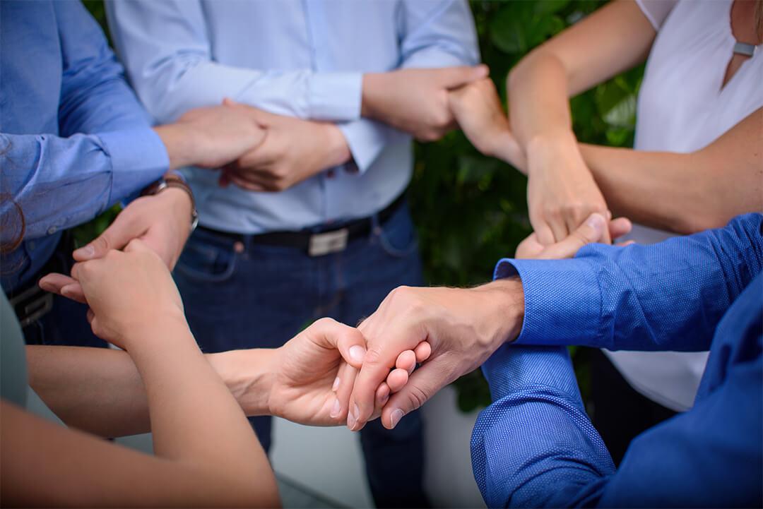 Teamwork - Händegeben